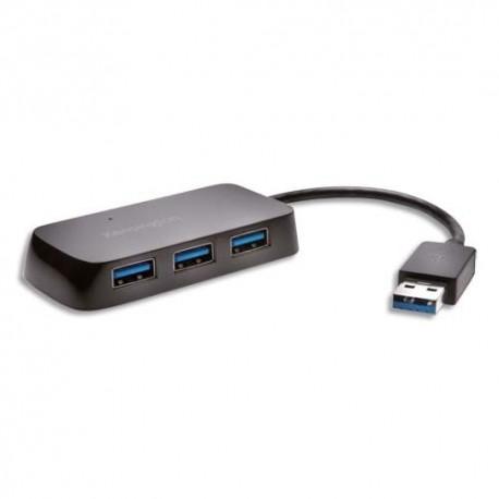 KENSINGTON Hub USB 3.0 4 ports avec chargeur K33979EU