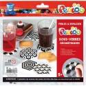 PERLOU Kit d activité 1500 perles à repasser assorties, 1 plaque, 5 modèles dessous de verre Géométrique