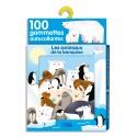 LITO DIFFUSION Boîte de 100 gommettes thème les animaux de la banquise