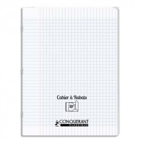 OXFORD C9 Cahier 24x32, 48 pages, 90g, Seyès, couverture polypro incolore avec rabat