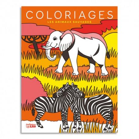 LITO DIFFUSION Livre de coloriage 64 pages 205x270, thème animaux sauvages