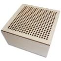 GRAINECREATIVE Boîte à broder carrée en bois format 90x90x50 mm