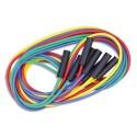 FIRST LOISIRS Lot de 4 maxi cordes à sauter, longueur 4 m, couleurs assorties. Fabriqués en France