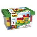 UNICO Baril de 250 briques de constructions en ABS formes et couleurs assorties