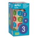 AGIPA Rouleaux de gommettes ABC Majuscules 20mm couleurs assorties