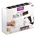 DTM Coffret Slow Art 8 crayons 10 cartes animaux et mandala