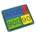 Lot de 36 nombres magnétiques de 1 à 9000, 4 couleurs assorties