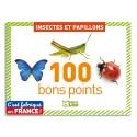 LITO DIFFUSION Boîte de 100 bons points thème insectes et papillons