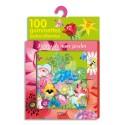 LITO DIFFUSION Boîte de 100 gommettes thème les fleurs du jardin