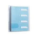 Porte vues ELBA - Protège-documents Flexam Pochettes amovibles et jeu de 5 intercalaires. Incolore.