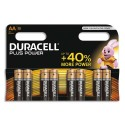 DURACELL Blister de 8 piles Alcalines 1,5V AA LR06 Plus Power Duralock