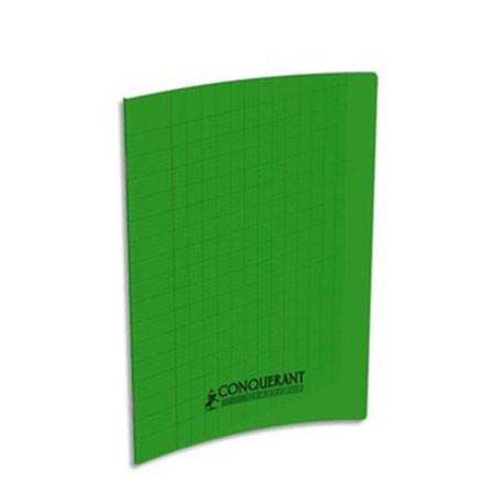 Cahier 17x22 cm 32 pages Seyès interligne 3mm piqûre papier 90g Couverture polypropylène