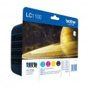 BROTHER LC-1100 (LC1100) Value Pack jet d'encre N/C/M/J LC1100VB1P