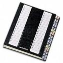 Trieur alphabétique EMEY 32 compartiments, couverture rigide plastifiée, onglets métalliques - Noir