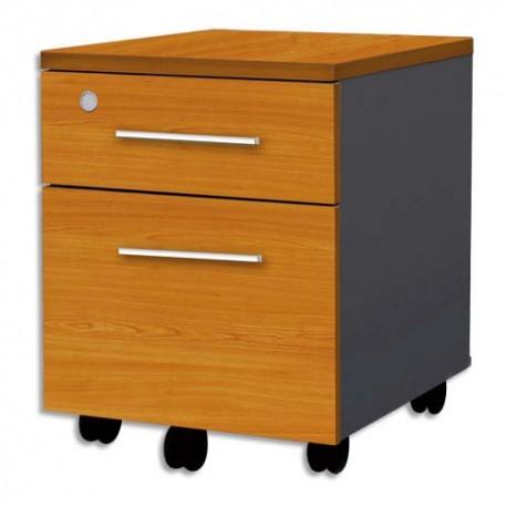 MT INTERNATIONAL Caisson 2 tiroirs Confort 42x54x50 cm merisier