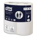 TORK Paquet de 4 rouleaux Papier toilette traditionnel Advanced Blanc 2 plis 198 feuilles