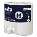 TORK Colis de 10 paquets de 4 rouleaux de Papier toilette Advanced Blanc 2 plis 297 feuilles