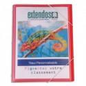 EXTENDOS Trieur couverture personnalisable translucide 8 cmpts. Fermeture par élastique. Format 24x32cm