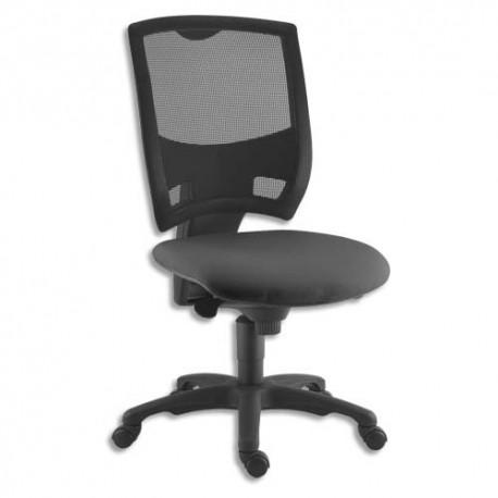 Chaise contemporaine Gaz dossier résille noir L80xH54xP68cm - Sans accoudoirs