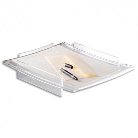 Corbeille à courrier CEP - Corbeille Acrylight - Dimensions L33,6 x H6 x P27,5 cm coloris cristal