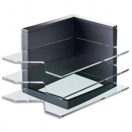 JALEMA Module trois corbeilles à courrier Premium Line ABS - Dim. L24,5 x H21,2 x P35 cm gris anthracite