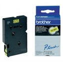 BROTHER TC-601 (TC601) Cassette Ruban TC noir/jaune 12mmx7,7m TC601