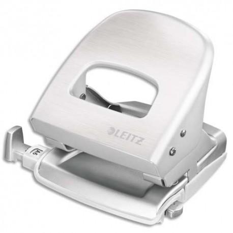 LEITZ Perforateur STYLE blanc - 2 trous en métal - Capacité 30 feuilles - Livré en boite