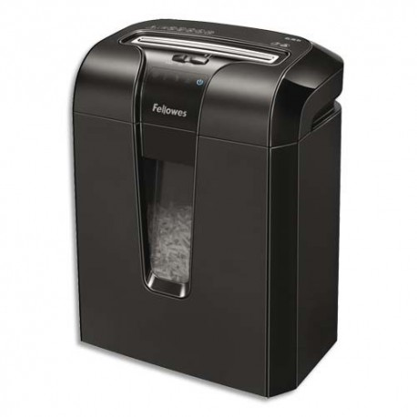 Destructeur de documents Fellowes  coupe croisée 63Cb, cycle 8min, anti-bourrage, corbeille 19L