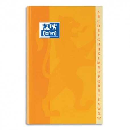 Carnet répertoire reliure brochure format 11x17 cm 192 pages petits carreaux papier 90g Super Conquérant
