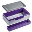 DURABLE Boîte de rangement Job case Varicolor en ABS - Dimensions : L12,2 x H6,2 x P23,5 cm violet gris