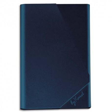 BYKARD Etui Porte-cartes Colorblock - Dimensions : L9,4 x H6,4 x P1 cm coloris bleu pétrole