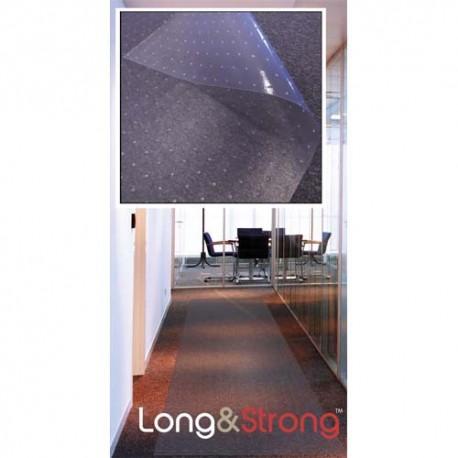 FLOORTEX Tapis pour protection moquette PVC sans phtalates - L360 x H90 cm, Epaisseur 1,2 mm transparent
