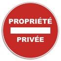 """VISO Plaque de signalisation auto-adhésive en PVC """"Propriété privé"""" - Diamètre 28 cm rouge blanc"""