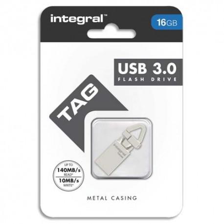 Clé USB 16Go 3.0 coloris métallique TAG + redevance Intégral