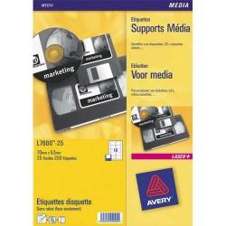 Etiquette AVERY L7674 - Boîte de 400 étiquettes laser média 144.8X16.9 L7674-25