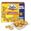 BELIN Boîte de 720g de Crackers Extra-Fins 4 variétés salés, 2 plateaux avec compartiments fraîcheur