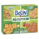 BELIN Boîte de 380g de Crackers 4 variétés salés Triangolini, Extra-fins, Monaco, Minizza 4 compartiments