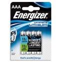 ENERGIZER Blister de 4 piles Lithium AAA L92 Utimate Lithium