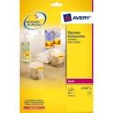 Etiquette AVERY L7670 - Boîte de 300 étiquettes laser jaune fluo diamètre 63.5 L7670Y-25