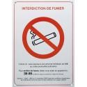 """PAVO Plaque de signalisation rectangulaire """"interdiction de fumer"""" - Dimensions : L21 x H15 x P0,2 cm"""
