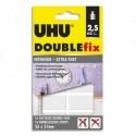 UHU Blister de 16 pastilles Double Fix ultra-fortes double-face 26 x 31 mm