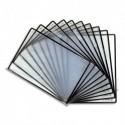 TARIFOLD Sachet de 10 poches à pivot Sterifold en PVC. Format A4. Coloris Noir