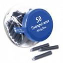 PELIKAN Bonbonnière de 50 cartouches standard. Encre effaçable Bleu royal