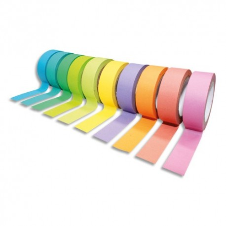 SODERTEX Pack de 10 Rubans adhésifs Thème Rainbow Pack Assortis - Dimensions : H15 mm x L10 m