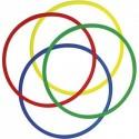 FIRST LOISIRS Lot de 4 Cerceaux ronds assortis en polyéthylène, Diamètre 65 cm, diamètre tube 2 cm