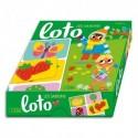 LITO DIFFUSION Jeu de loto sur les saisons, boîte solide, 1 planche de 6 images par saison, dès 3 ans
