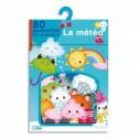 LITO DIFFUSION Boîte de 80 Gommettes adhésives gaies et colorées thème météo saisons, à partir de 3 ans