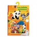 LITO DIFFUSION Boïte de 80 GomMettes adhésives colorées thème des bébés animaux, à partir de 3 ans
