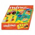 LITO DIFFUSION Jeu de mémoire, boîte solide, 36 cartes, 18 paires à retrouver, à partir de 3 ans