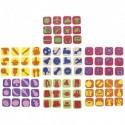 SODERTEX Maxi pack de 84 mini tampons 7 thèmes assortis, Classe entière - Diamètre 3,5 cm